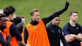 Fotbalisté Anglie se chystají na duel s Českem
