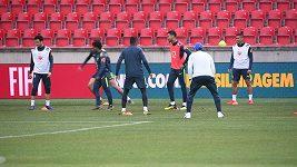 Brazilci se na tréninku výborně bavili
