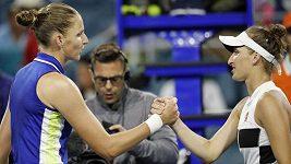 Tenistka Karolína Plíšková porazila v Miami v českém čtvrtfinále Markétu Vondroušovou