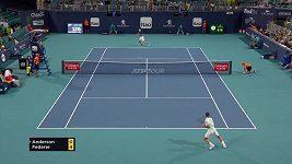 Roger Federer vyřadil Kevina Andersona