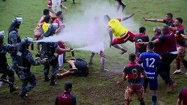 Bitku brazilských fotbalistů rozehnala policie