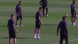 Cristiano Ronaldo na tréninku Juventusu.