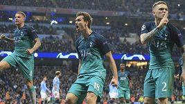 Sestřih čtvrtfinálového utkání Ligy mistrů Manchester City - Tottenham