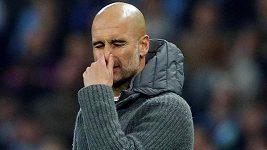 Trenér Manchesteru City Pep Guardiola byl po utkání hodně zklamaný