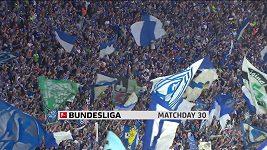 Sestřih utkání 30. kola fotbalové bundesligy Schalke - Hoffenheim