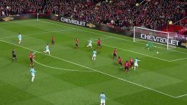 Sestřih utkání 31. kola Premier League: Manchester United - Manchester City