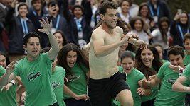 Dominic Thiem si triumf v Barceloně náležitě užil