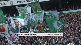 Sestřih utkání 32. kola Bundesligy Brémy - Dortmund