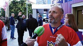 Čeští fanoušci jsou před Švédskem velcí optimisté. Do Bratislavy přijel fandit i Zdeněk Pohlreich
