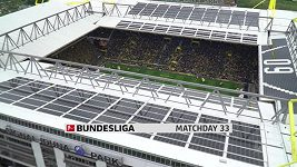 Sestřih utkání 33. kola německé fotbalové bundesligy: Dortmund - Düsseldorf
