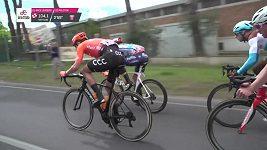 Druhou etapu Giro d´Italia vyhrál Ackermann, v čele zůstal Roglič
