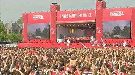 Oslavy fanoušků Ajaxu