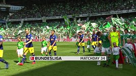 Sestřih utkání 34. kola Bundesligy Brémy - Lipsko
