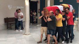 Pohřeb fotbalisty Josého Antonia Reyese