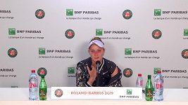 Markéta Vondroušová po porážce ve finále French Open