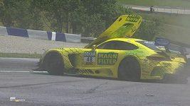 Havárie Fabiana Vettela.