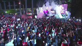Divoké oslavy v ulicích Toronta