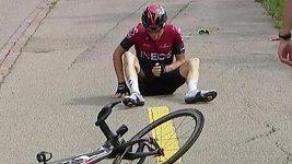 Geraint Thomas utrpěl hodně nepříjemné zranění.