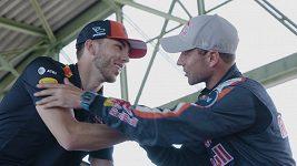 Pilot formule 1 Pierre Gasly se proletěl s Martinem Šonkou