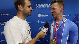 Dráhový cyklista Tomáš Bábek získal na Evropských hrách zlato