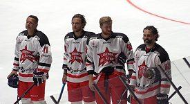 Hvězdné hokejové trio Jágr, Pastrňák, Voráček na exhibici ve Znojmě
