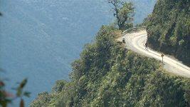 Běžecký závod po tak zvané Silnici smrti v Bolívii