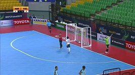 Futsalisté předvedli parádní gól přes celé hřiště.
