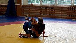 Lucie Pudilová a Adéla Hanzlíčková při tréninku na Olympu Praha
