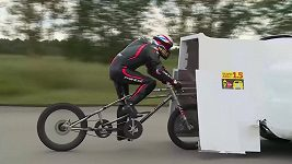Brit Neil Campbell se stal nejrychlejším cyklistou historie.