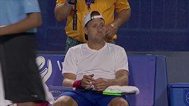 Američan Tennys Sandgren si během zápasu s Andym Murraym prozpěvoval známou americkou píseň Sweet Caroline.