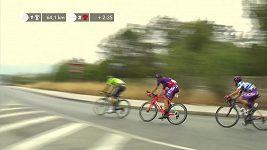 Irský cyklista Sam Bennett vyhrál sprinterský dojezd třetí etapy Vuelty.