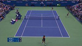 Sestřih zápasu Ósakové s Gauffovou na US Open