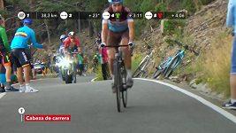 Slovinský cyklista Pogačar vyhrál na Vueltě horskou etapu v Andoře. Celkově vede Kolumbijec Quintana