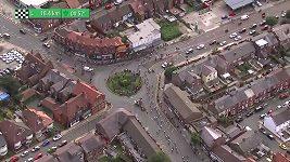 Chaos při cyklistickém závodě Kolem Británie
