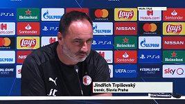 Jindřich Trpišovský na TK v Miláně při dotazu na trenéra Zdeňka Zemana