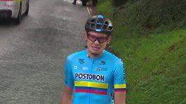 Kolumbijský cyklista se na MS rozplakal