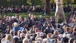 Odhalení sochy Zlatana Ibrahimovice
