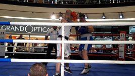 Ondřej Pála, třetí kolo a jeho K.O. v poslední sekundě zápasu na MR v boxu