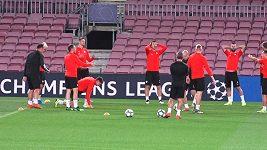 Slavia trénovala na slavném Camp Nou