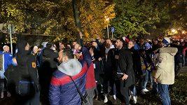 Fanoušci Kosova v Plzni
