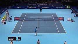 Sestřih utkání Roger Federer - Novak Djokovič