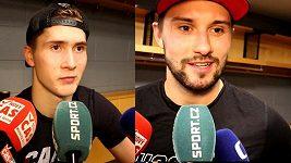 Petr Mrázek a Martin Nečas, parťáci v NHL