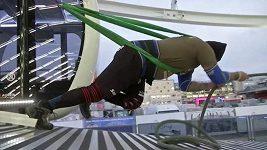 Rakouský atlet vlastními silami roztočil ruské kolo