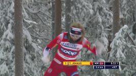 Johaugová a Klaebo z Norska vyhráli stíhačku v Ruce