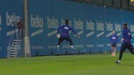 Luis Suárez předvedl parádní patičku na tréninku
