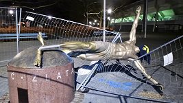 Ibrahimovicova socha byla zničena