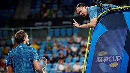 Daniil Medveděv neudržel nervy na uzdě