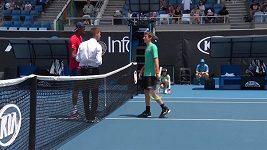 Frustrace Kimmera Coppejanse během tie breaku druhého setu ve 3.kole kvalifikace Australian Open.