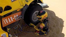 Psychicky nejtěžší Dakar Martina Macíka. Častá výměna pneumatik a čekání na narození dcery