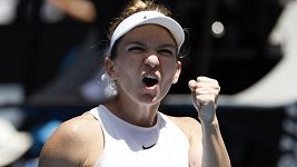 Sestřih osmifinále Australian Open Halepová - Mertensová